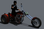 Cat Woman on Spider Trike