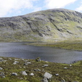 The Loch, Tents And Beinn Dearg In The Background
