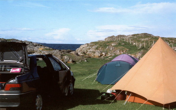 Tents at Achmelvich
