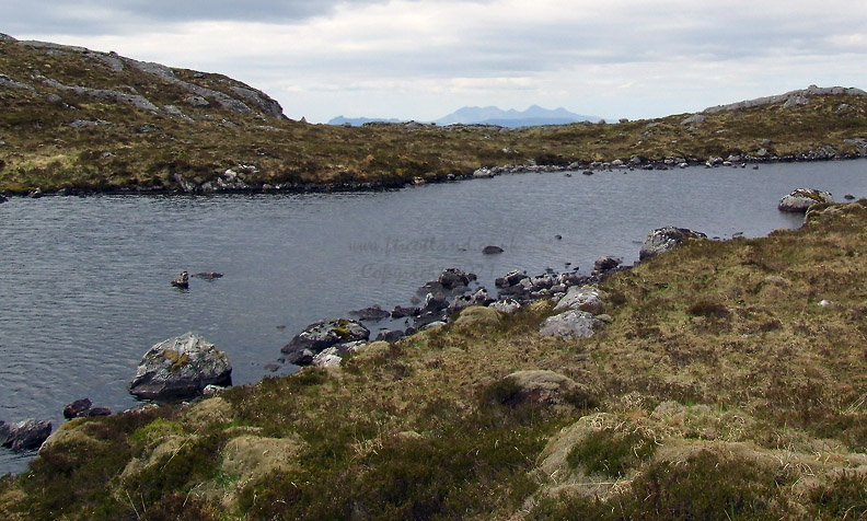 Looking Across Upper Lochan Sligeanach Towards Rhum